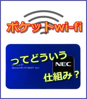 ポケットwi-fi 仕組みTOP
