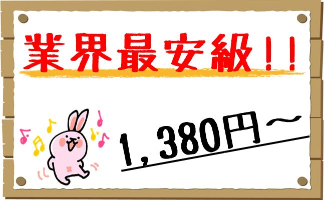 業界最安級1,380円~