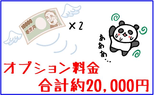 オプション料金 合計20,000円のイラスト