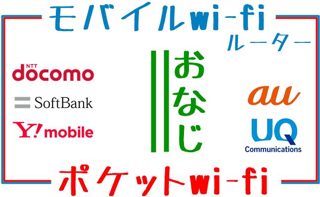 ポケットwi-fiとモバイルwi-fiルーターの一般的な認識図